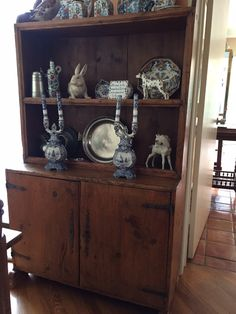 Watercress Springs Estate Sales GREENWICH CT ESTATE SALE - 12 Sidney Lanier Lane - October 28th to 30th - Country Hutch And Delft