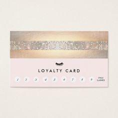 Eyelash Extensions Lash Customer Loyalty Punch Business Card