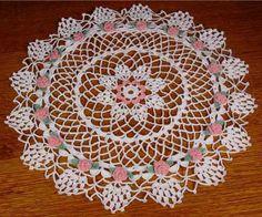 Maggie's Crochet · Rosebud Star Doily Pattern