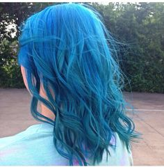 My lovely mermaid!! Pravana vivids blue mixed with neon blue!