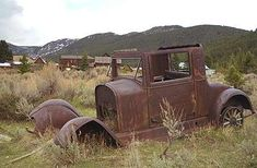 So cool.  I even have my photo taken while sitting in this old car.  It must still be there.  Elkhorn ghost town, Montana