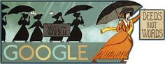 On Google's home page today, in the US, is a special Google Doodle (logo) for the 131st birthday of Alice Paul.  Alice Paul was a women's rights activist who was born on January 11, 1885 in Mount Laurel Township...