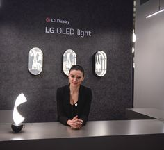 Our hostess at the LG OLED light booth during Euroluce 2017 #designweek