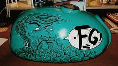 Cafe racer custom tank painting Motocultura7