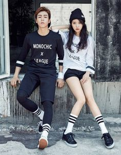 IU and Lee Hyun Woo are a believable couple in & fall pictorial IU and Lee Hyun Woo definitely make it hard for us not to ship them, even if they've reiterated a hundred times before that they're just clos… Korean Street Fashion, Korea Fashion, Kpop Fashion, Asian Fashion, Fashion Outfits, Moorim School, Lee Hyun Woo, Culture Pop, Korean Couple