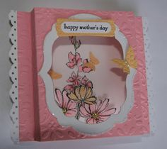 Pink Embossed Wedding Card - Inkinbythebay - A Creative Place to Play!: Shadow Box Card Revisited . . . With a Twist!