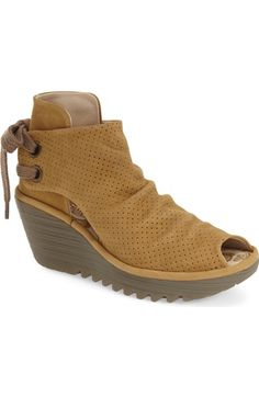 Fly London 'Yull' Platform Wedge Bootie (Women) available at #Nordstrom