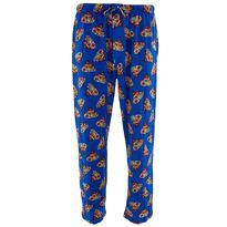 Blue Superman Meteor Logo Pajama Pants for Men