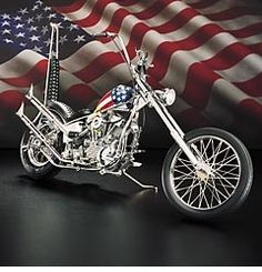 Harley Davidson Motorcycle Patriotic Red, white  blues