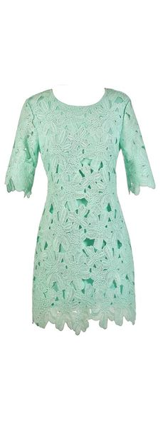 Full Bloom Sheath Dress in Mint  www.lilyboutique.com