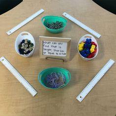 Amazing Reggio Classroom and Ideas Measurement Kindergarten, Kindergarten Inquiry, Measurement Activities, Math Measurement, Inquiry Based Learning, Preschool Math, Learning Centers, Fun Math, Teaching Math