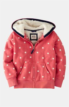 Mini Boden 'Shaggy' Hoodie (Toddler, Little Girls & Big Girls) | Nordstrom