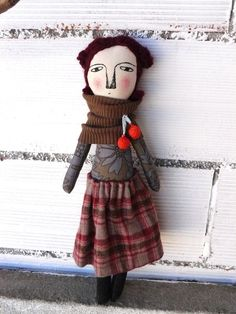 Muñeca Casilda de algodón / 48 cm / OOAK por AntonAntonThings