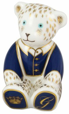 Royal Crown Derby Prince George of Cambridge Family quotTeddy Paperweightquot