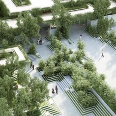 The design features of Indian stepwells and water mazes are combined in this proposal for a landscaped garden by architecture studio Penda. Read the full story at dezeen.com/tag/Penda #architecture by dezeen