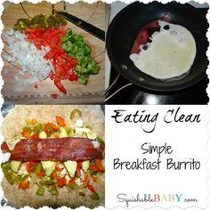 simple-breakfast-burrito #cleaneating #recipe #21dayfix