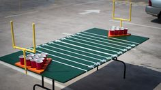 Step-by-step instructions for building a deluxe #gameday table. You'll be sinking ping pong balls in no time!