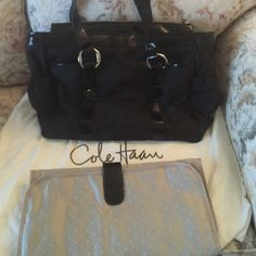 Colehaan diaper bag Very good condition, purchased here but didn't use it. Comes with new diaper pad and dustbag. Cole Haan Bags Baby Bags