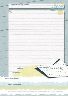 """Reisetagebuch, """"Logbuch einer Reise"""" Tagebuch zum Schreiben mit…"""