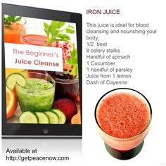 """Has yesterday left you feeling short on energy?  Give your body a break with """"The Beginner's Juice Cleanse"""" Available on the home page at getpeacenow.com"""