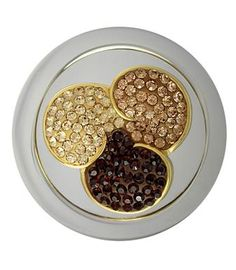 Mi Moneda Large Gold Plated Swarovski Flower Coin from Michael Jones Jeweller