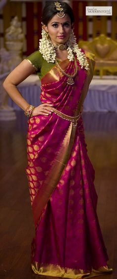 Aalayaa's KANCHIPURAM wedding silk saree