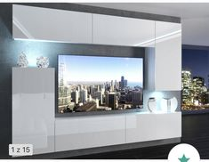 Wall Cabinets Living Room, Living Room Designs, Living Room Decor, Modern Tv Wall Units, Space Saving Furniture, Decoration, House, Home Decor, Creative