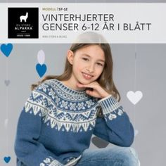 DSA57-11 Vinterhjerter genser 1-4 år i blått – Du Store Alpakka Pullover, Sweaters, Fashion, Scale Model, Moda, Fashion Styles, Sweater, Fashion Illustrations, Sweatshirts