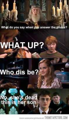 Harry is not amused…