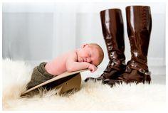 RCMP Newborn Photography, Mountie Uniform Newborn Photos