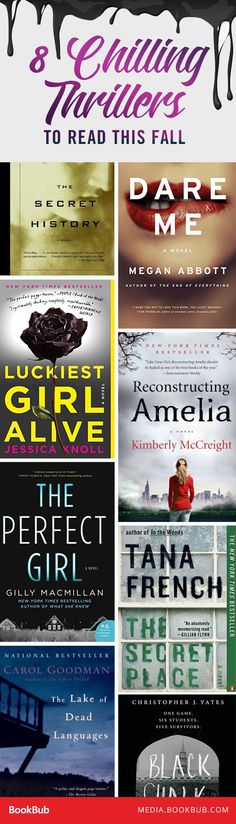 8 Chilling Back-to-School Thrillers for Fall - 8 suspenseful thriller books to read this fall.