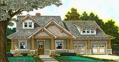 Plan 48520FM: Exclusive Three Bed Country Craftsman