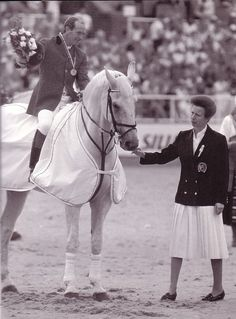 Royal welcome for Milton and Johnwhitaker. Princess Anne