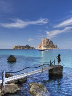 Es Vedra at Cala d'Hort, Ibiza, Spain. Legend is that these rocks are remains of ancient Atlantis. One of the most beautiful places I have ever been to in my life...