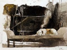 Andrew Wyeth 1974 Ides of March Study