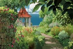 "Madame Gina's private garden - ""Porco Rosso"" (1992)"