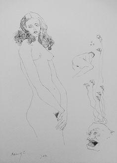 Bernardo CRESPIN : Sin titulo ; 2013 ; tinta sobre papel ; 35cm x 25cm ; colección MDAA (adquirido del artista)