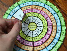 Math in Demand Multiplication Table Wheel Foldable Math Activities For Kids, Math For Kids, Math Resources, Math Games, Teaching Aids, Teaching Math, Learning Multiplication, Multiplication Table For Kids, Maths