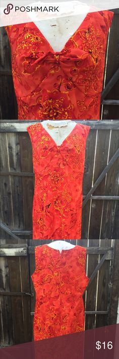 """Plus 18 Orange Floral print summer dress New. Plus size fit. Back zipper. Cotton blend with great stretch. Francesca Esker owner of LexiCo Fashion is a celeb who has been on many red carpet appearances in her unique style. This dress is plus size in a size 18. BUST: 46-47"""" WAIST: 42-43"""" HIP: 48-50"""" LENGTH: 31 (BUST TO HEM) Sagharbor  Dresses Maxi"""