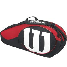 Wilson Match Black And Red 3 Pack Tennis Bag - Black   Red  This Wilson 9a15eb44e9223