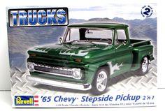 1965 Chevy Stepside Pickup Revell #85-7210 1/25 New Classic Truck Model Kit - Shore Line Hobby