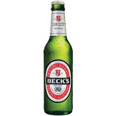 Becks is a popular German beer containing 5% alcohol. It's owned by Anheuser-Busch InBev and can be found in countries around the world.Beck's is the number one German export beer by volume and is sold in over 100 countries.