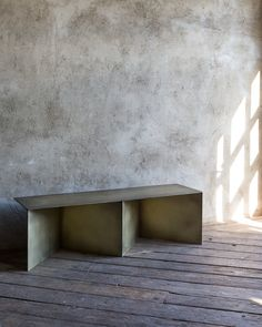 Metal Bench   Lifestyle - The cousin of our Tack Console, the Tack Bench charts a zig-zagging course in welded sheets of hand-blackened steel. Refined and commanding, The Tack Bench makes a striking entryway or reception room centerpiece. Brass, hand blackened steel
