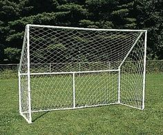 PVC Soccer Goal: Buid a practice sized soccer goal, perfect for backyard or park use. Wildlife netting can be used as the net. - FORMUFIT.com