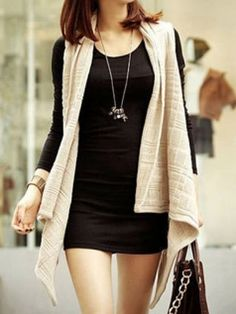 Solid Irregular Women's Fashion Sweater Vest