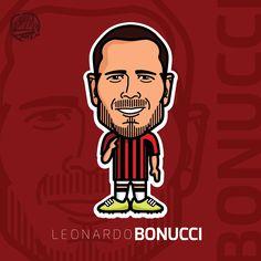 Leonardo Bonucci #bonucci #leonardo#football #cartoon #comic #italy #milan #acmilan #calcio #vector #illustration #art #tommillerart #tommillerdesign