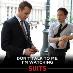 I love Suits . and the guys who wear them! Suits Tv Series, Suits Tv Shows, Patrick J Adams, Suits Harvey, Suits Quotes, Gina Torres, Suits Usa, Gabriel Macht, Tv Shows Funny
