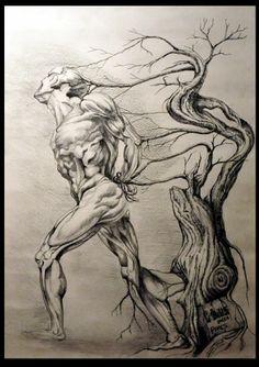 World of Druids by Rubets Dmitry. Ink, pencil. #art #graphics #ink #painting #artwork.http://www.artwork-gallery.ru/catalog/grafika/newbie/mir_druidov