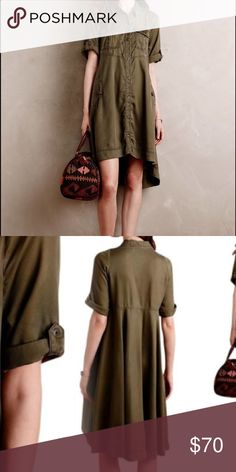 SALE 💕 Holding horses military dress size 0 Anthropologie Holding horses military dress size 0. Perfect condition, only worn once. Price firm. Anthropologie Dresses