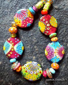 jasmin french siddhartha lampwork beads set sra by jasminfrench
